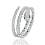 Snake Bangle Emerald Diamond