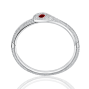 Snake Bangle Ruby Diamond