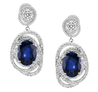 Starlight Sapphire Earrings