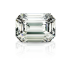 White Emerald Cut Diamond