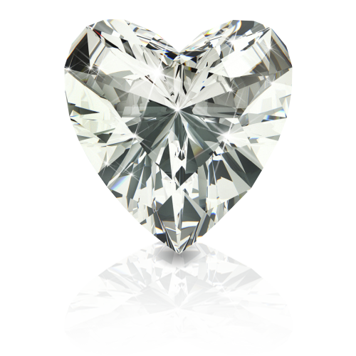 Heart Shape White Diamond
