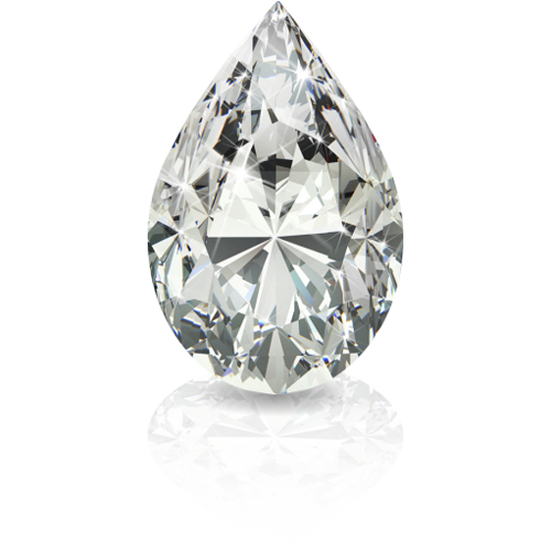 Pear Shape White Diamond
