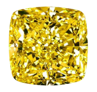 Fancy Intense Yellow Cushion Cut
