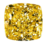 Fanvy Vivid Yellow Cushion Cut