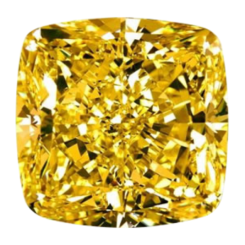 Fancy Vivid Yellow Cushion Cut