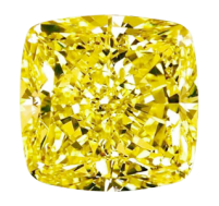 Fancy Yellow Cushion Cut
